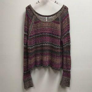 Free People Purple Multicolor Sweater
